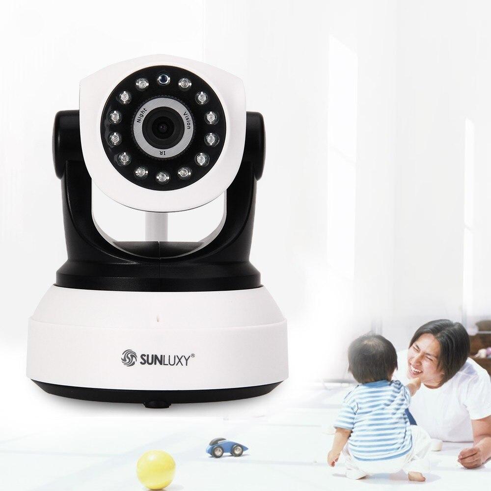 SUNLUXY CCTV Wireless Wifi 720P HD H.264 P2P P//T IP Network IR Security Camera