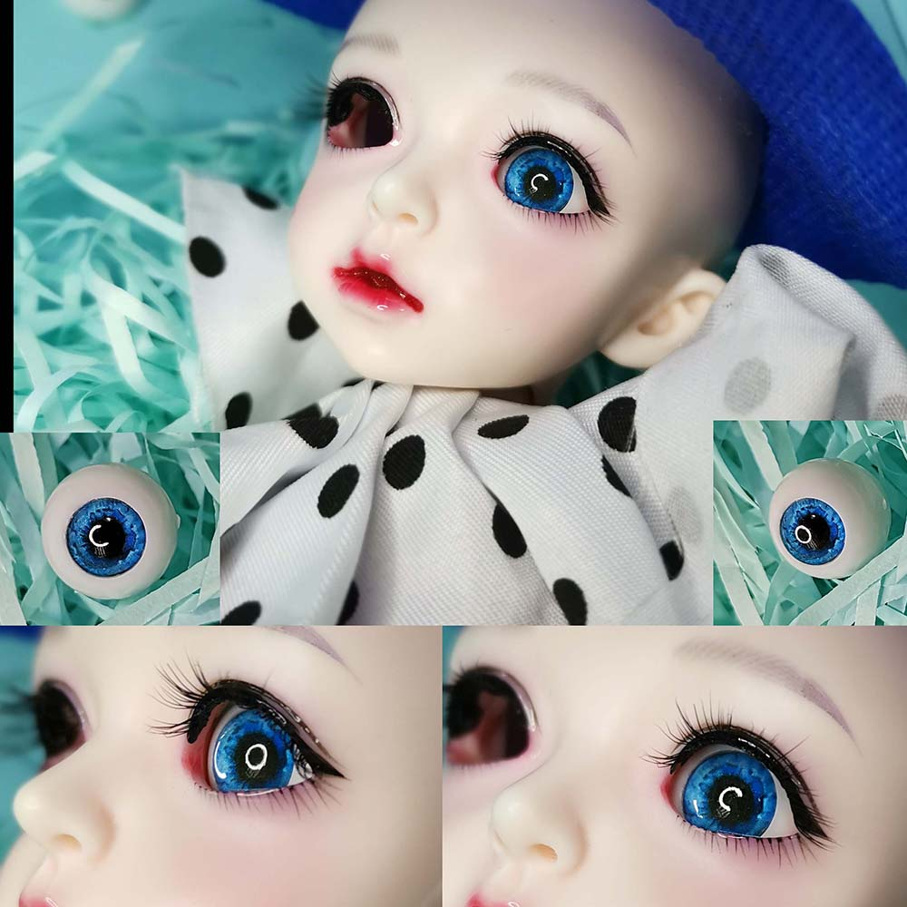 PF 14mm Light Blue For BJD Doll Dollfie Glass Eye Equipment
