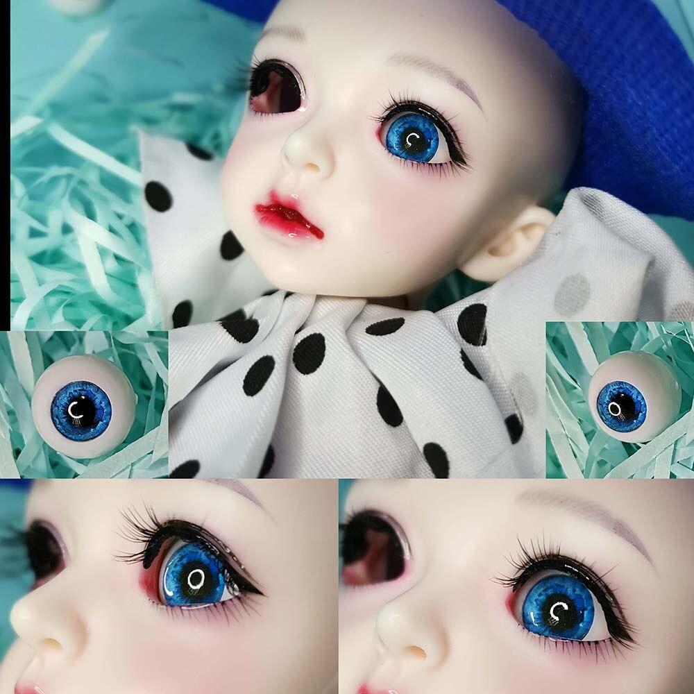 Olhos Da Boneca BJD 1 par 10mm 12mm 14mm 16mm 18mm 22mm Globo Ocular Fantasia Estrelado azul 1/3 1/4 1/6 SD BJD Acessórios Da Boneca Olho Bola