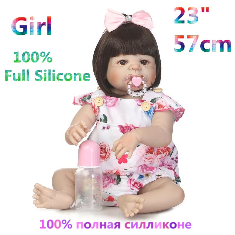 Factory Supply 100% Doll Reborn Full Silicone Brinquedo Baby Dolls Alive Menina Bonecas Doll Bebe Reborn Girl RB16-02H10 кукла luxury china brand 2015 18 bonecas bebe brinquedo reborn baby doll 012