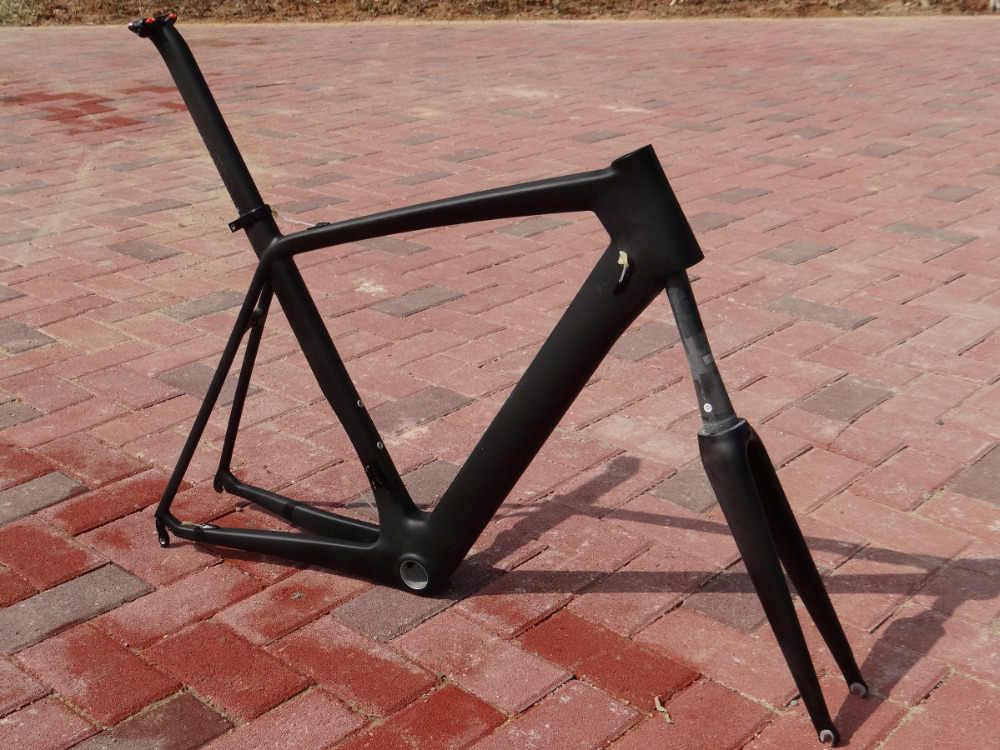 FR316 liquidation vente 700C cadre de route Toray carbone UD mat vélo de route vélo cadre de cyclisme 56 cm (cadre, fourche, tige de selle)