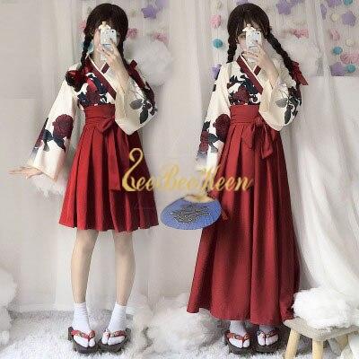 kimono jiu jitsu Game anime Cosplay Costume For Girls Short Long Skirt Kimono Women Skirt Adult
