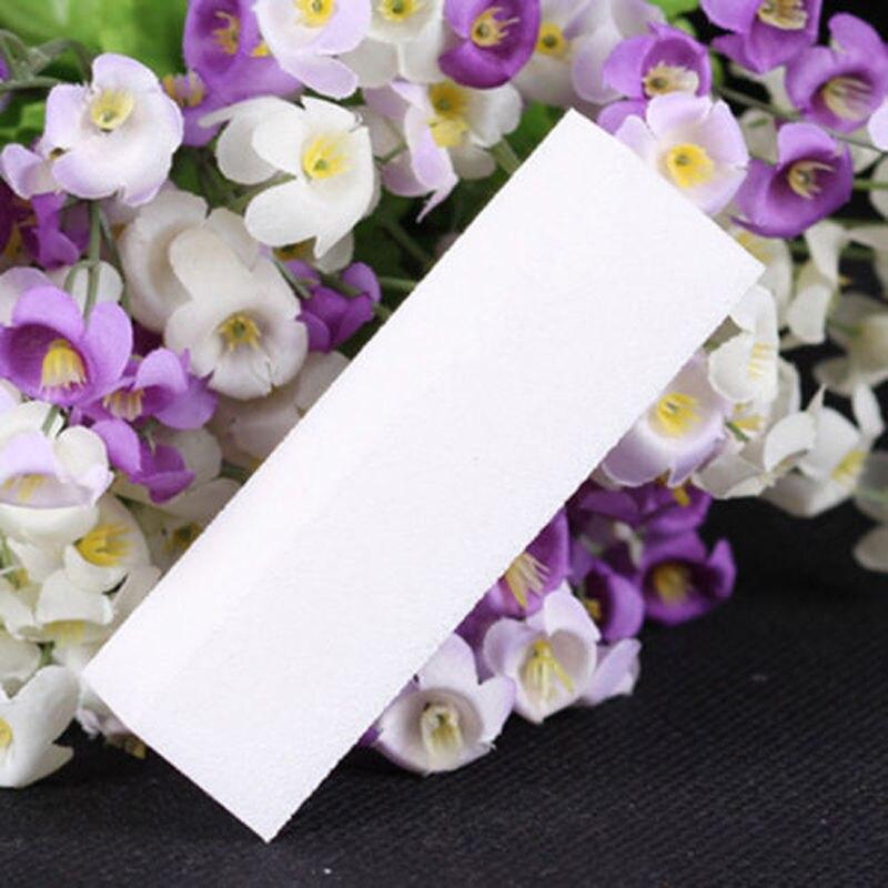 10Pc/Lot White Nail Buffing Buffer Block Reusable Files Acrylic ...