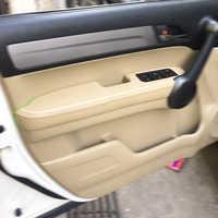 Pour Honda CRV 2007 2008 2009 2010 2011 Microfibre En Cuir Poignée De Porte Panneaux Accoudoir Couvre Garniture De Protection avec Monture Raccords