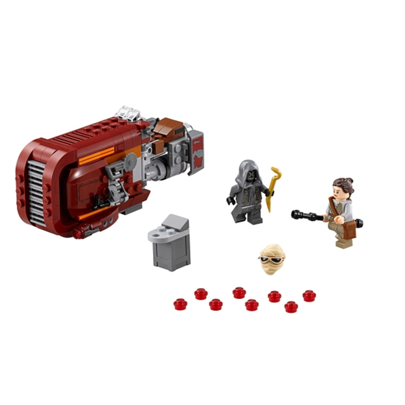 Lepin 05001 Star Wars Rey's Speeder building bricks blocks Toys for children Game Weapon Compatible with Decool Bela 75099 lepin 22001 imperial flagship building bricks blocks toys for children boys game model car gift compatible with bela decool10210