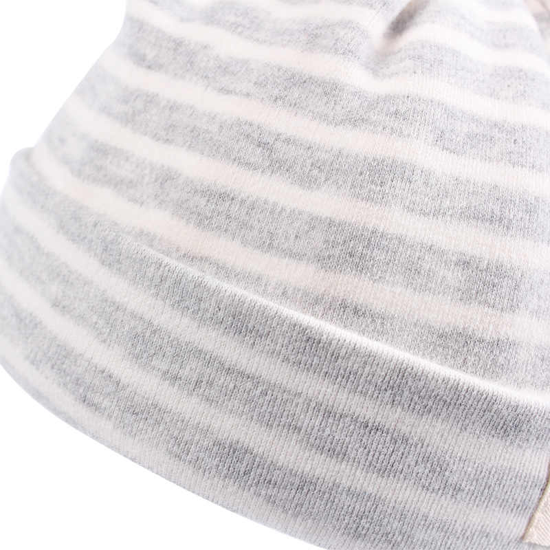 51847b091be ... Cotton Newborn Baby Hat Rabbit Ears Baby Beanie Hat For Boys Girls  Solid Striped Newborn Cap
