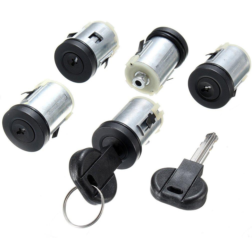 5 Pcs Door Lock Core Set For Citroen Synergie For Peugeot Expert 806