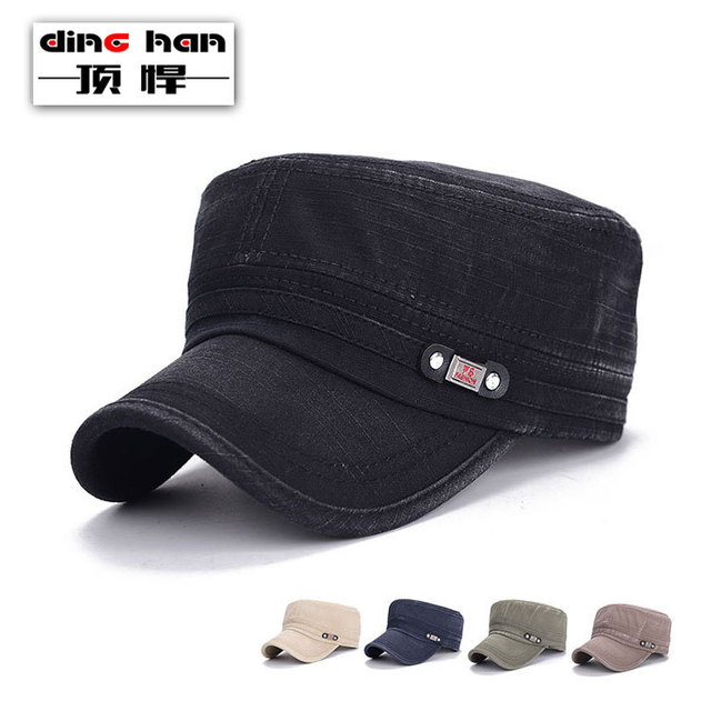 5248a778 2016 Fashion Sun Hat Man Europe Contracted Style Canvas Army Cap Cool Man  Baseball Caps Unisex