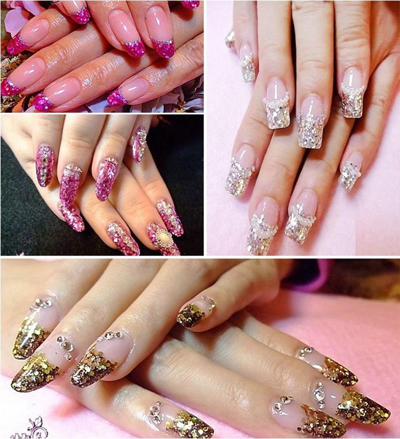 Bling Laser Sexy Rode Grote Hexagon Sparkly Sequin Nail Art Fijn