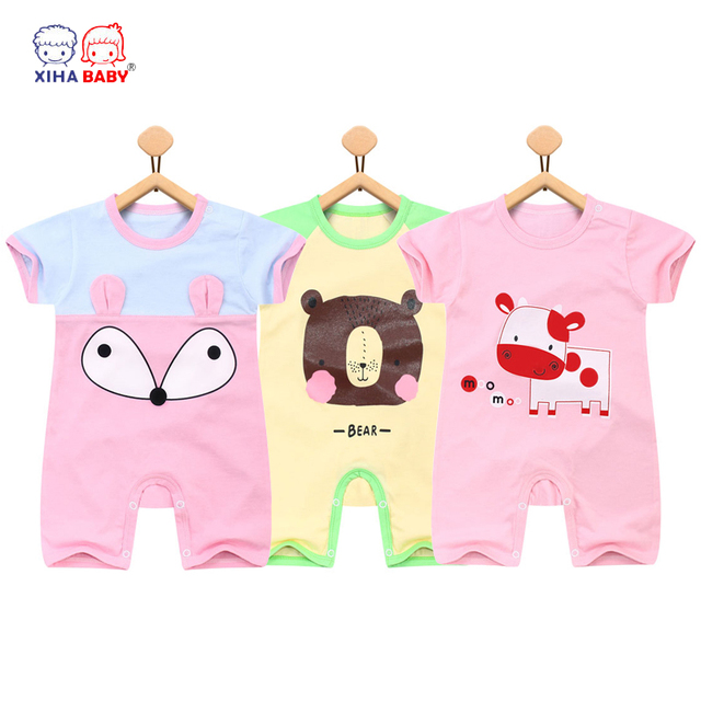 1f85c4f393e0 Baby Clothes Newborn Baby Boy Girls Rompers Unisex Short Sleeve ...