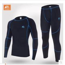 C&C Market.Free shipping.Brand fleece underwear.dry fast.function warm fitness Thermal underwear.men's quality