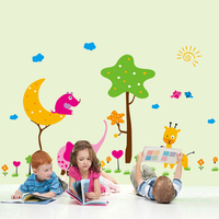 Trees Sun Animals Wall Decal Home Sticker Paper Removable Art Picture DIY Murals kids Nursery Baby Room Decoration