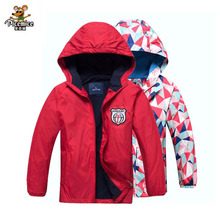 Girls Polar Fleece Jacket Sport Kids Coat Double-deck Hoodie Waterproof Windbreakers Girls Jackets 3-12Y Spring Autumn Winter cheap Children Outerwear Coats 01-6268a Active picemice Full Polyester Hooded Fits true to size take your normal size Floral