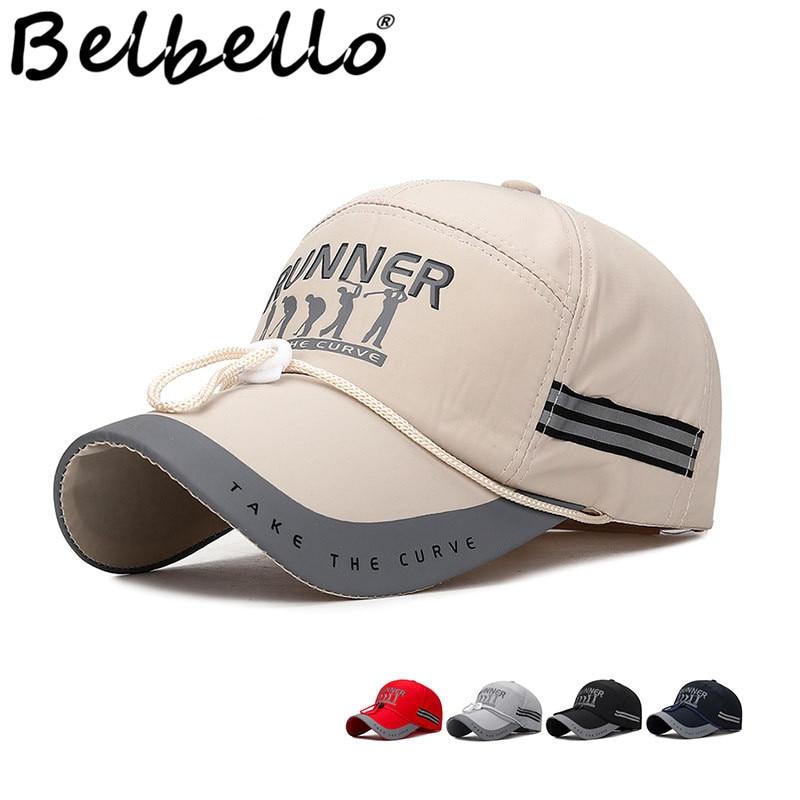Belbello весенне летняя удлиненная солнцезащитная Кепка для рыбалки с козырьком, мужской ночной отражатель, барная шляпа, широкие поля, ветрозащитная веревка, Повседневная шапка