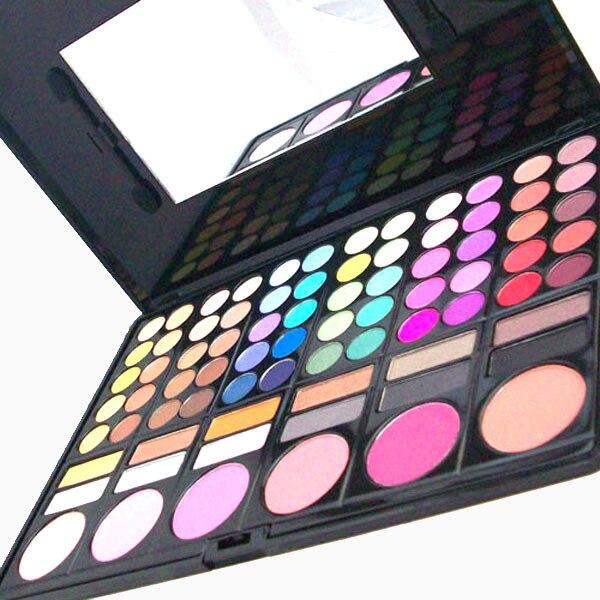 Fashion 78-Color Professional Cosmetic Makeup Eyeshadow + Lipgloss + Blusher Palette Kit Makeup Set