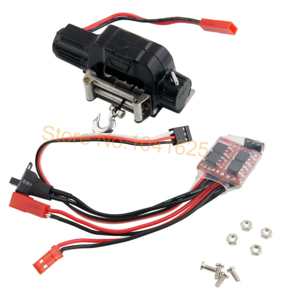 Automatic Winch Control System & 20A High Pressure Waterproof ESC Speed Switch Controller For 1:10 Rock Crawler 10 50v 100a 5000w reversible dc motor speed controller pwm control soft start high quality