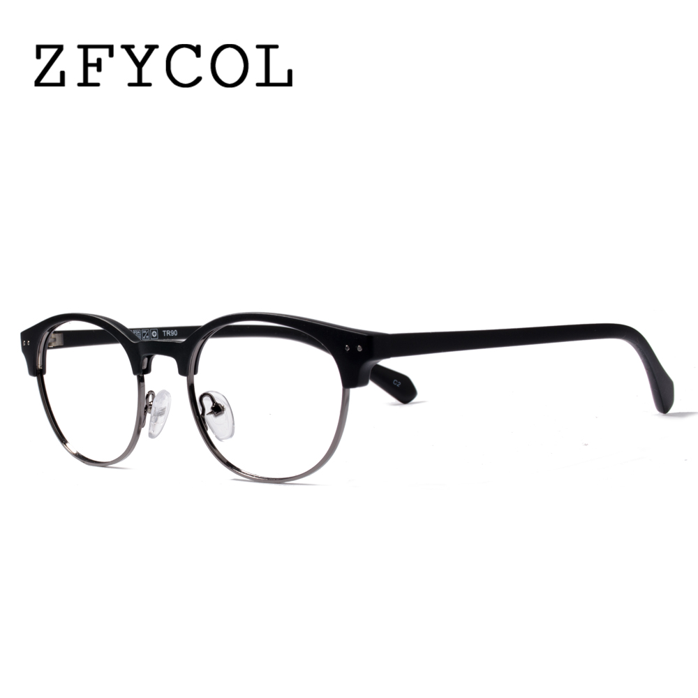 zfycol ultralight tr 90 frame women glasses clear reading glasses classic design men optical glasses