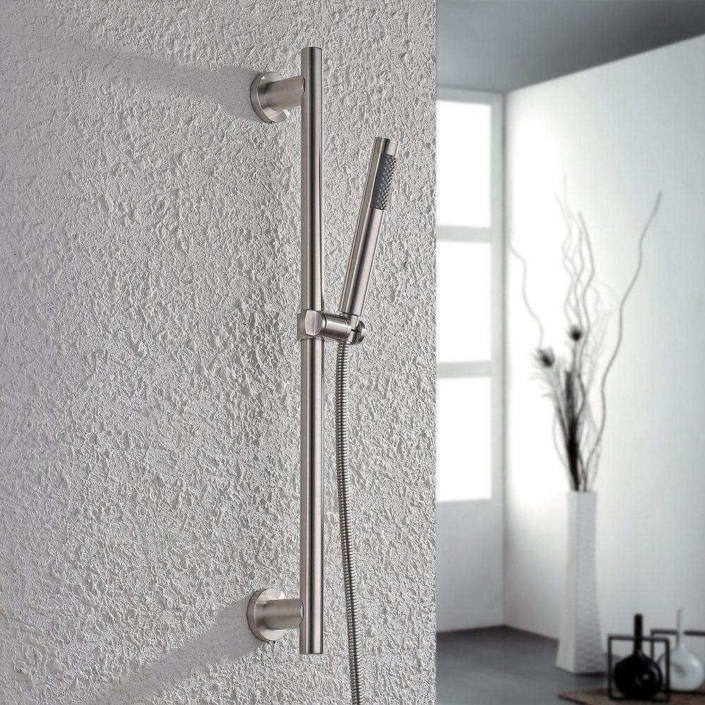 Для ванной комнаты, металлическая душевая головка SUS304 из нержавеющей стали с регулируемой направляющей, матовая отделка