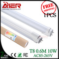 Top LED Tube manufacturer 2ft T8 led tube light 600mm 10Watt AC85-265V free shipping Cold White/Natural white/Warm White