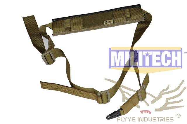 Especificação militar Cáqui FY-SL-S005 FLYYE KH Tático Rifle Gen 2 Estilingue Único Ponto Único Sling Versão II