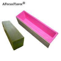 1 Pc DIY Rectangular Soap Mold With Wooden Rectangle Soap Mold Silicone Liner Cake Stencil Outer