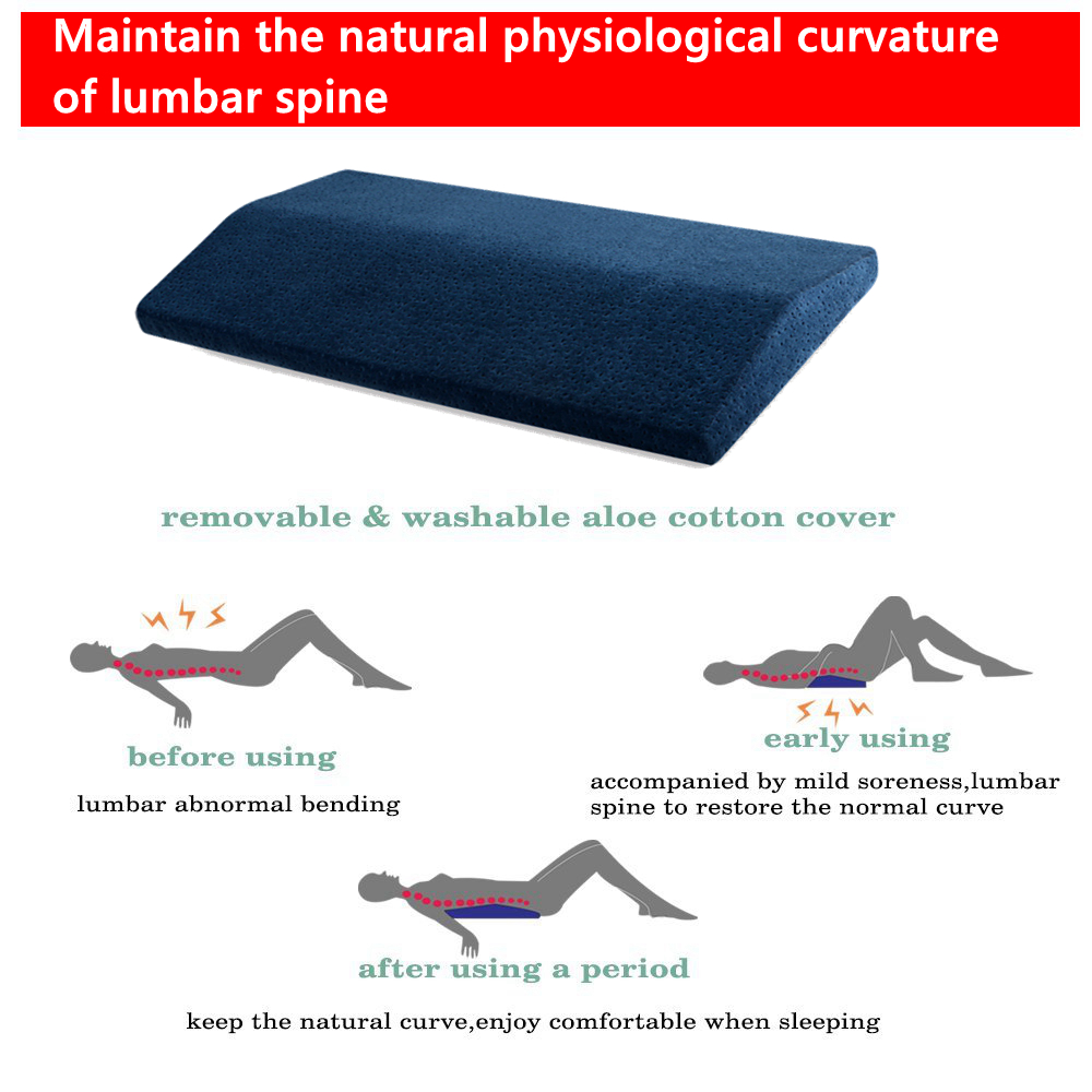 lumbar pillow for sleeping spinal support cushion lower back pain relief memory foam sciatica pillows posture corrector bolster