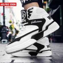 Aelfric Eden alta zapatillas transpirable de deporte Hip Hop hombre  vulcanizados Color mezclado zapatos casuales de d016f6111b7