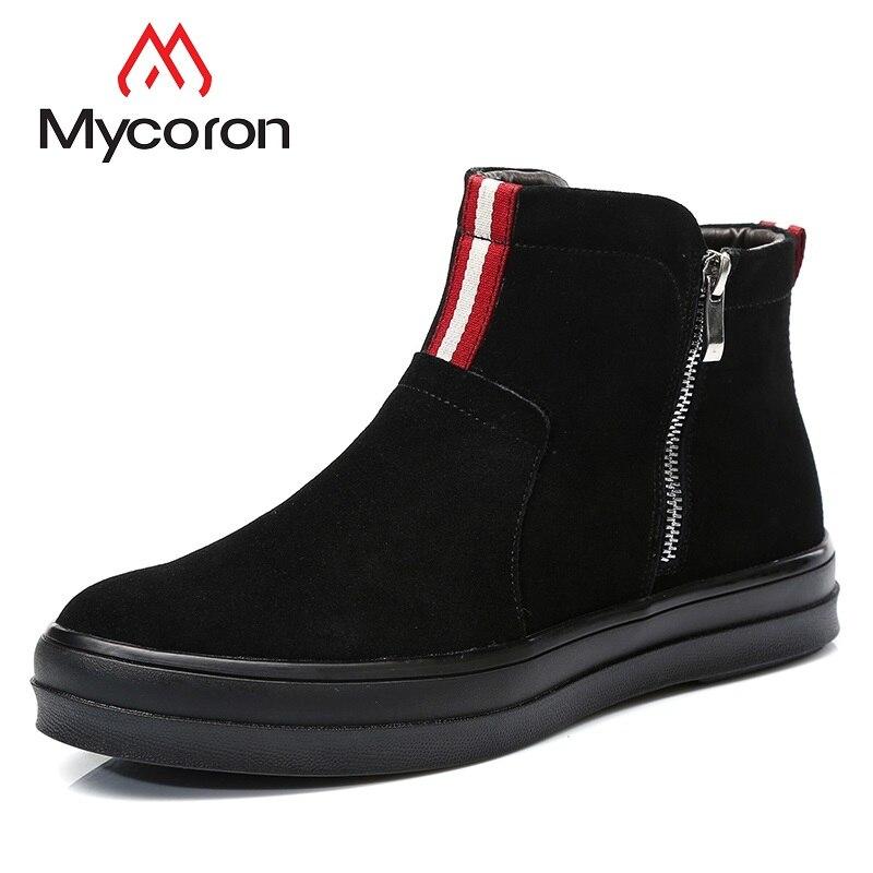 Moda Superior winter Hombres Los Tobillo Listado Gentry Nuevo Negro Botas Botines Chelsea El Negro De black Mycoron Calidad Hombre warm Zapatos Confort WqZOS0wxnH
