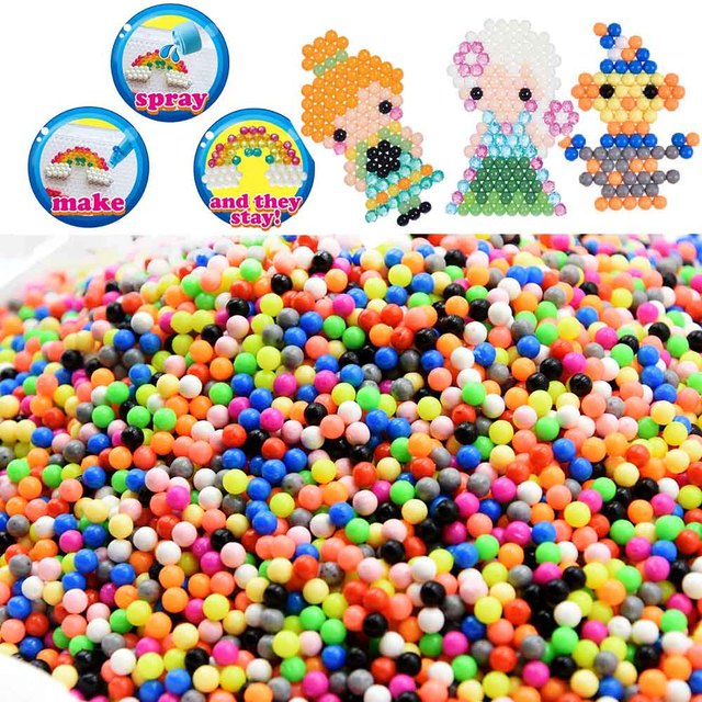 aquabeads ricarica  Perlen Bead Ricariche Hama Perline giocattoli Appiccicoso Perler ...