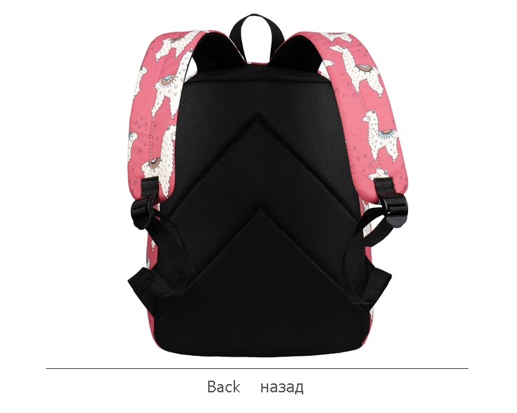 WINNER Backpack Cute Alpaca Print School Backpack Teenager Girls Water Repellent Fabric Laptop Bags Travel Mochila 2019 (5)