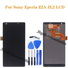 5.0 inç Sony Xperia Z2A ZL2 lcd monitör + dokunmatik ekran digitizer Cep Telefonu Aksesuarları Tamir Parçaları