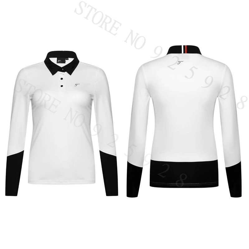 Lady Golf shirts Newest Autumn Long Sleeve Golf Aparrel Women Breathable Sport Golf Clothes Polo Shirts Tops Navy Red White