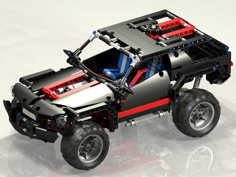 589pcs Decool 3341 טכני קיצוני קרוזר SUV בניין מכונית מירוץ דגם לבנים ילדי צעצוע 1 8081 1