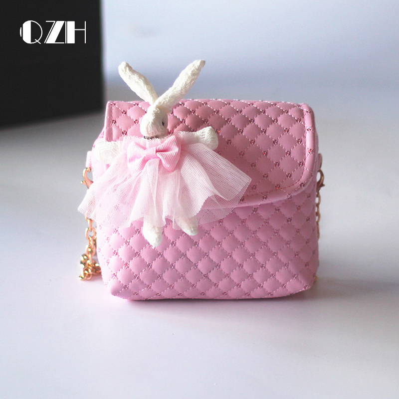 QZH little girl Mini doll messenger bags PU baby girls princess shoulder bag crossbody handbags for kindergarten children gifts семя льна 100 г россия