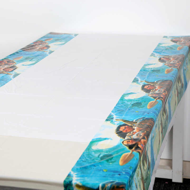 Baby Shower Disposable Tablecloths Kids Moana Birthday Party Supply Elsa And Anna Table Cover Decoration