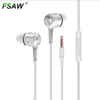 FSAW Bass 3.5mm Sport Earphone Wired Super Crack In-Ear Headset Earbud with Microphone Hands Free for Samsung wholesale