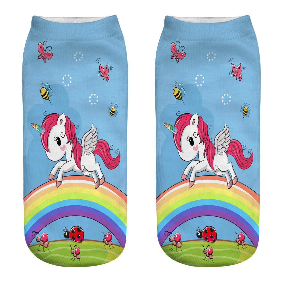 DA CORSA CHICK hot-vendita calze femminili Unicorno 3D calzini stampati per personalizzare