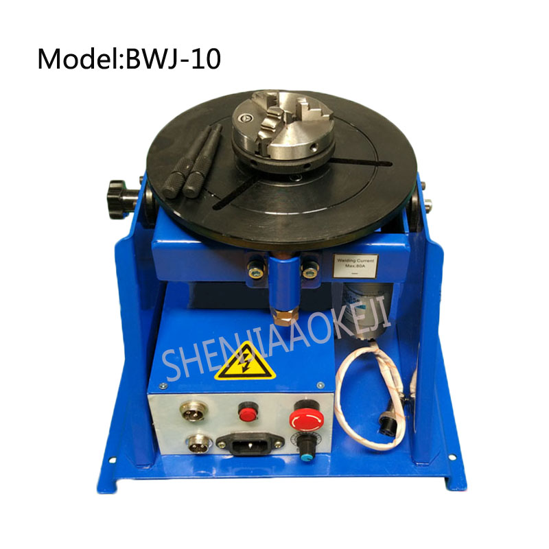 BWJ-10 welding positioner stainless steel automatic precision argon arc welding with 65 chuck turntable 220V 15WBWJ-10 welding positioner stainless steel automatic precision argon arc welding with 65 chuck turntable 220V 15W