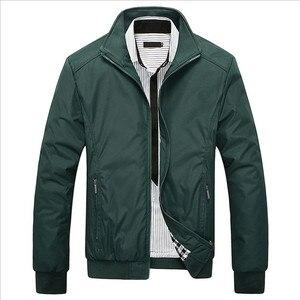 Image 4 - Sonbahar kış erkek ceket rüzgarlık erkek palto rahat düz renk ceket Slim Fit uzun kollu erkek gömlek rüzgar geçirmez ceket ceket boyutu 6XL 7XL 8XL