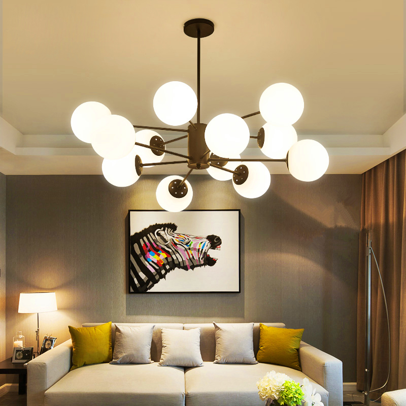 chandelier Modern Led pendant lamps for dining living room Bulb glass pendant lamp hanging lights fumat stained glass pendant lamps european style glass lamp for living room dining room baroque glass art pendant lights led