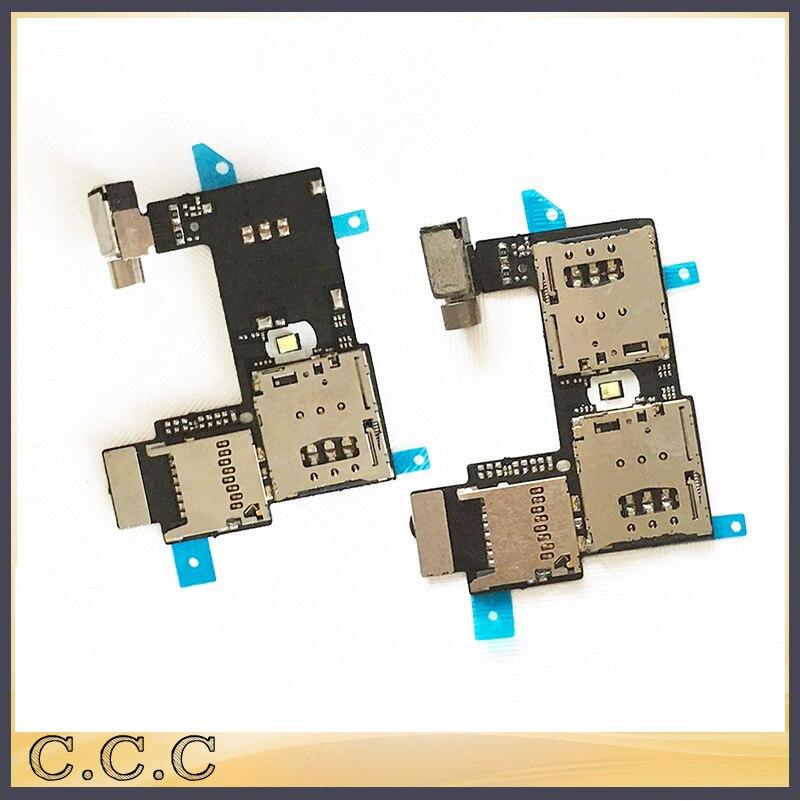 imágenes para 10 unids/lote original para motorola moto g 2nd g2 xt1068 xt1069 sim titular de la tarjeta de memoria sd micro lector de cable flexible junta