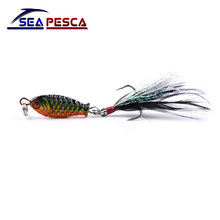 Sea fishing lures Mini Metal diving swivel Iron Jigs wobbler 4.8g 2.5cm winter VIB hard bait ice sea fishing tackle ZB213