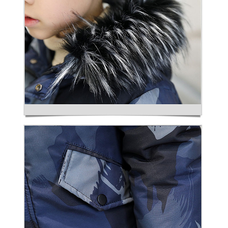 Image 3 - Winter Jackets for Boy Children Clothing Hooded Thicken Coats Boy Casual Warm Down Cotton Parkas Kids Outdoor Camouflage Clothes-in Down & Parkas from Mother & Kids