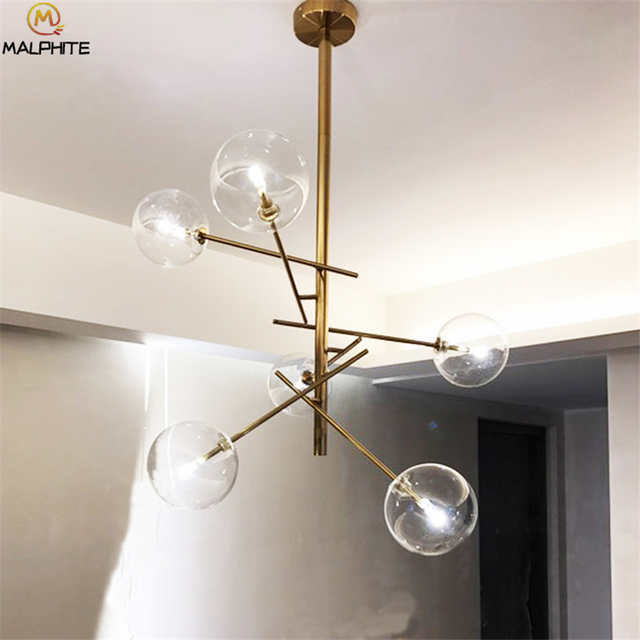 Nordic Magische bohnen Kronleuchter leuchtet moderne wohnzimmer geometrie  kronleuchter lampen studie glas ball Dekoration leuchten