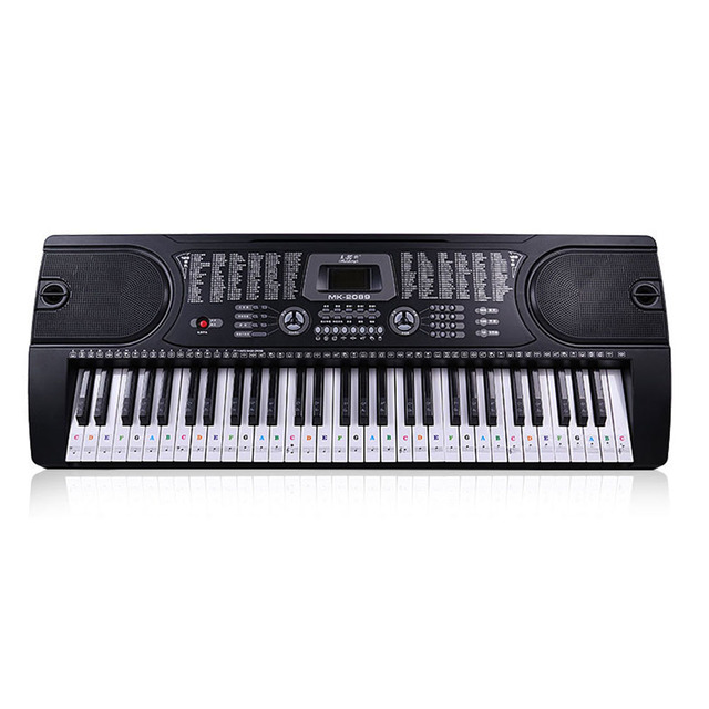 54/61 Keys Music Decal Sticker Label PVC Note Removable Biginners Piano Keyboard Stave