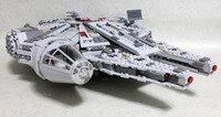 Leping 1381pcs Star Wars 05007 Millennium Falcon Figure Toys Building Blocks Marvel Minis Kids Toy Brinquedos