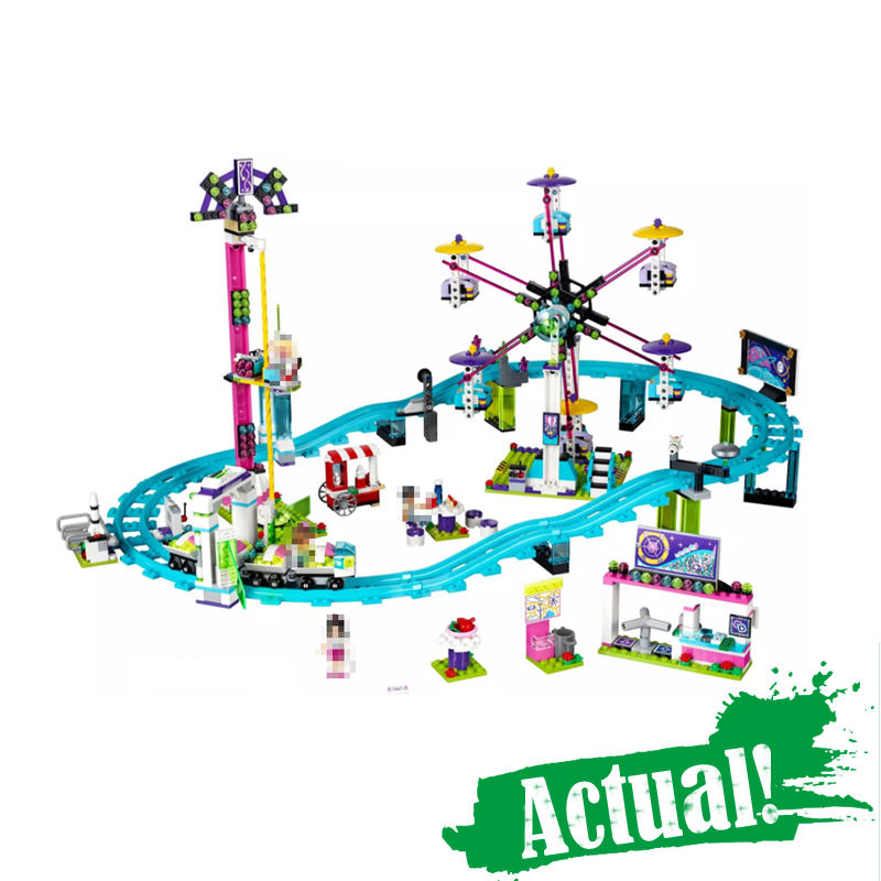 LEPIN 01008 Amusement Park Roller Coaster Friends Building Blocks Bricks Toys For Girls oyuncak Compatible with41130 1000pcs lot electronic components abs10 abs10 mark abs10 sop 4 ultra thin 1a 1000v rectifier bridge original new special sales