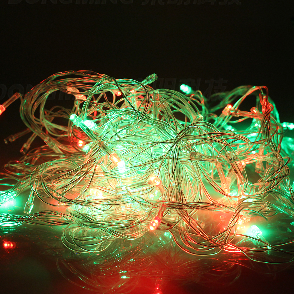 2016 Garland LED Christmas Light tree 10M 50leds fairy Led String Lights 220V 110V RGB warm white party Wedding Lights decor in LED String from Lights Lighting