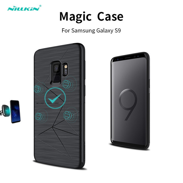 size 40 335a2 a3f2d US $9.86 21% OFF|Nillkin Wireless Charging Silicone Case for Samsung Galaxy  S9/S9 Plus back Cover Magnetic Mobile Phone Cases Adsorption-in Holsters &  ...
