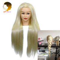 24Inch Mannequin Head With Synthetic Hair Hairdressing Plastic Dolls Head Hair Styling Dummy For Hairstyles Makeup